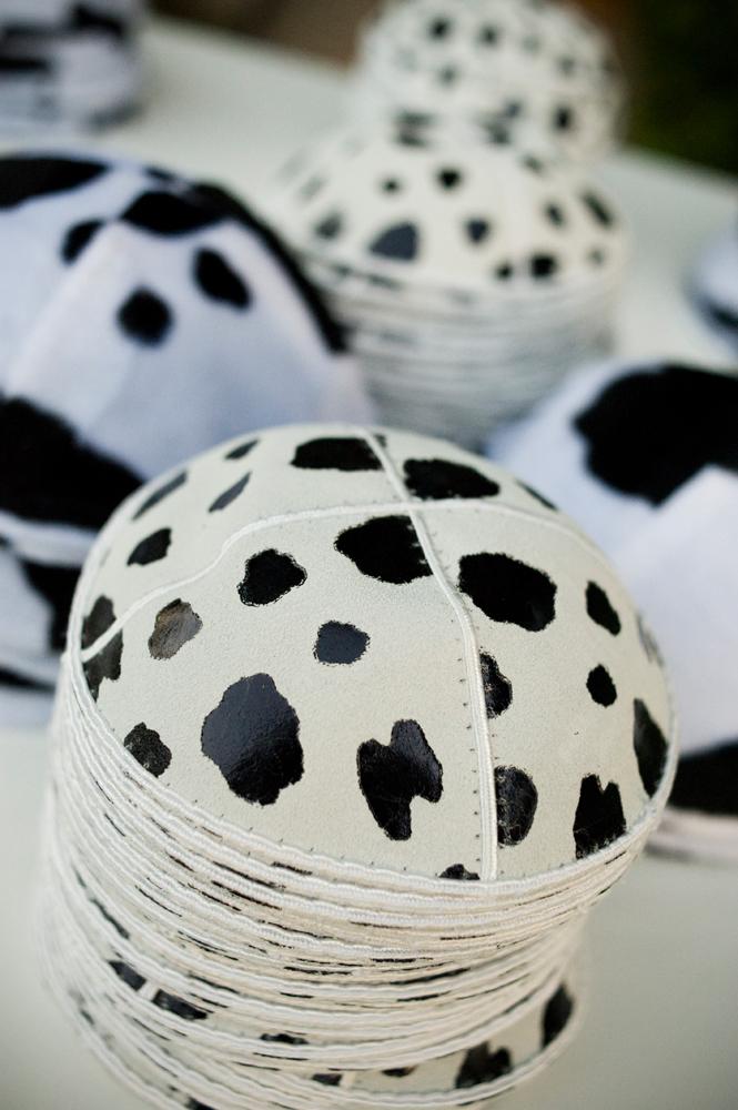 Cow print kippot