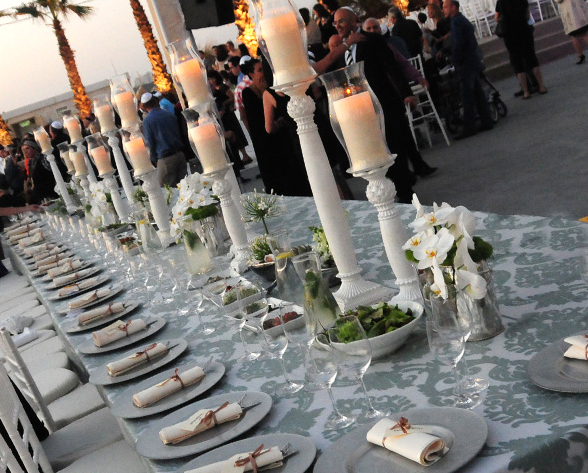 Israel Wedding Beach Table