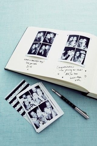 Wedding Guest Book with photo booth photos