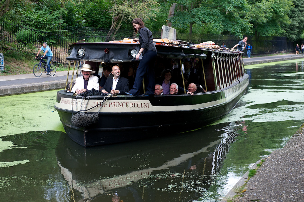 LONDON ZOO WEDDING CANAL BARGE 4