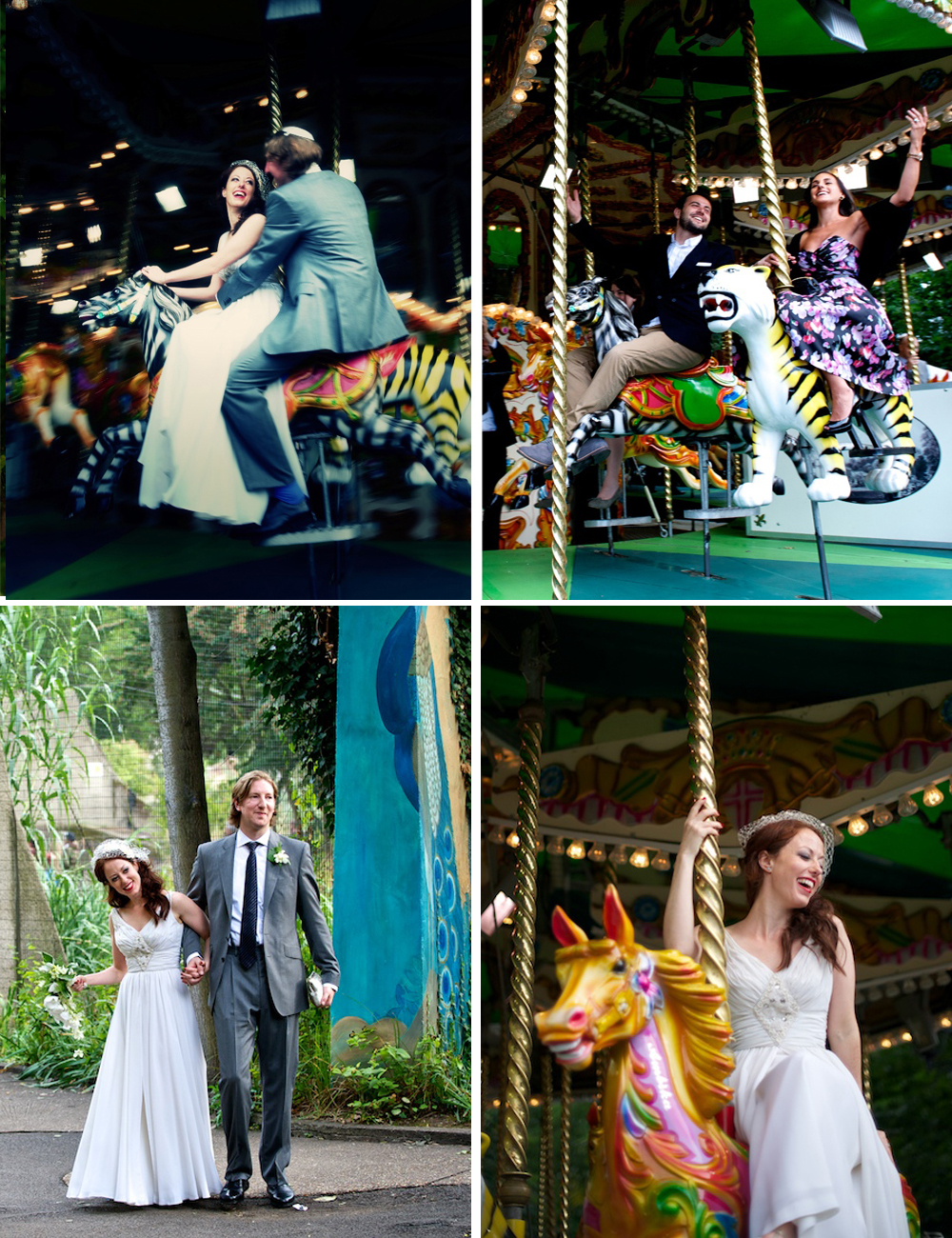 LONDON ZOO WEDDING MERRY GO ROUND