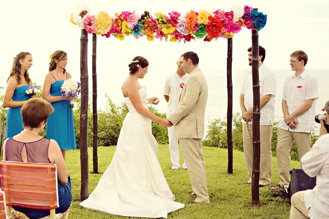 Colourful chuppah