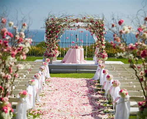 Gorgeous Pink Floral Chuppah