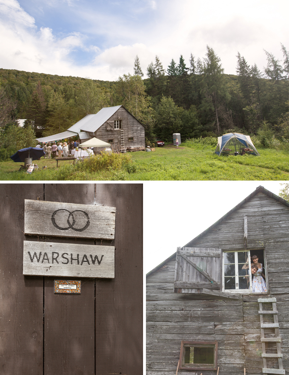 Handmade DIY wedding barn