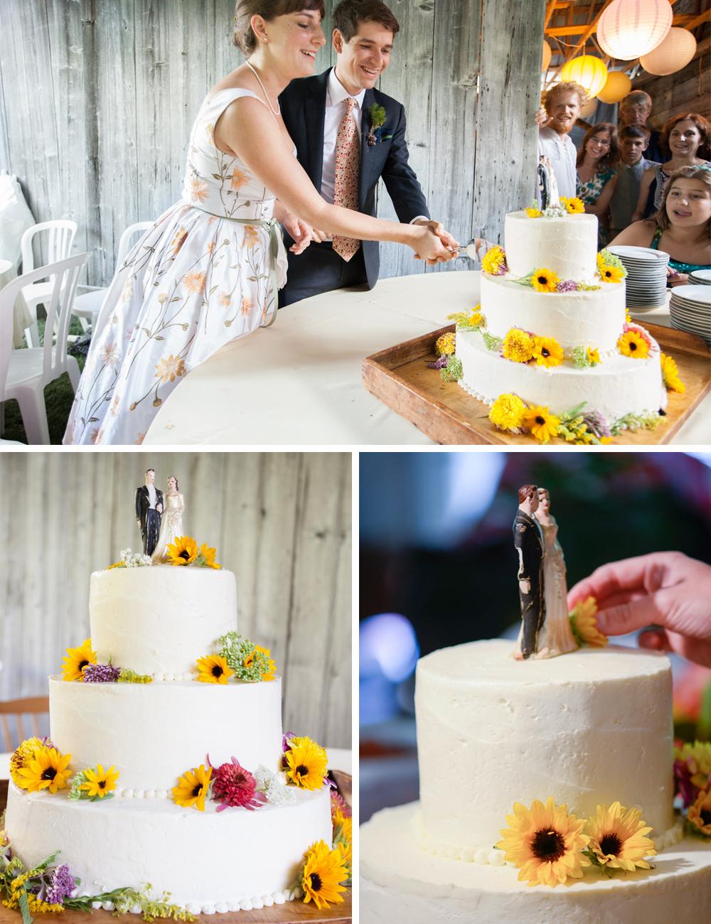 Handmade DIY wedding cake