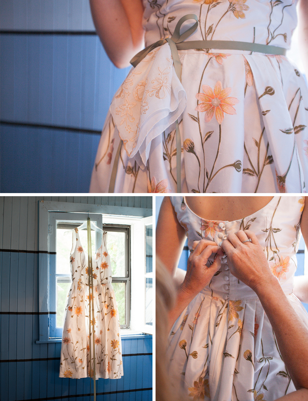 Handmade DIY wedding dress