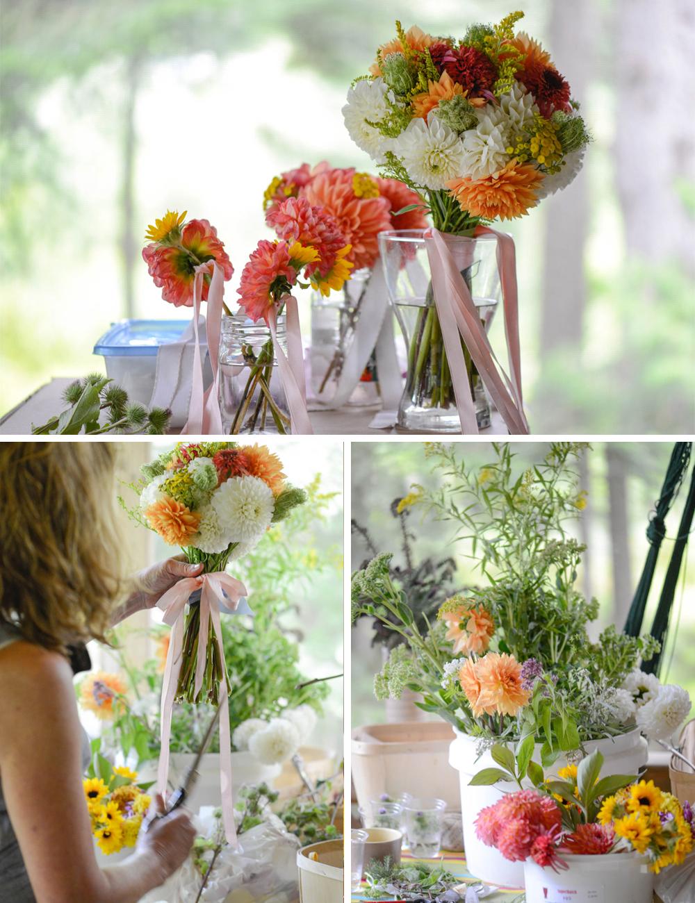 Handmade DIY wedding flowers 2