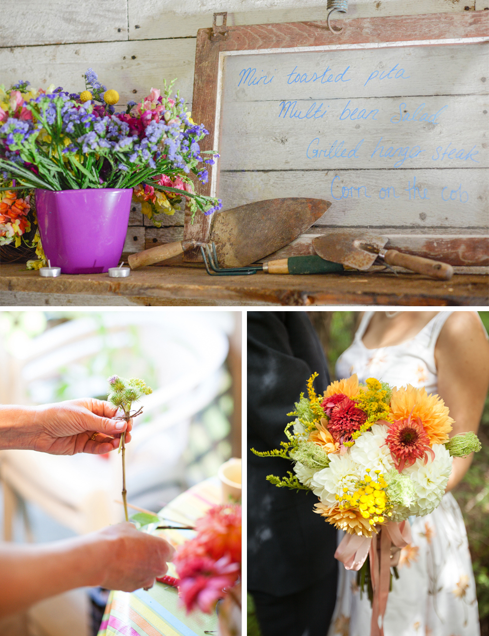 Handmade DIY wedding flowers