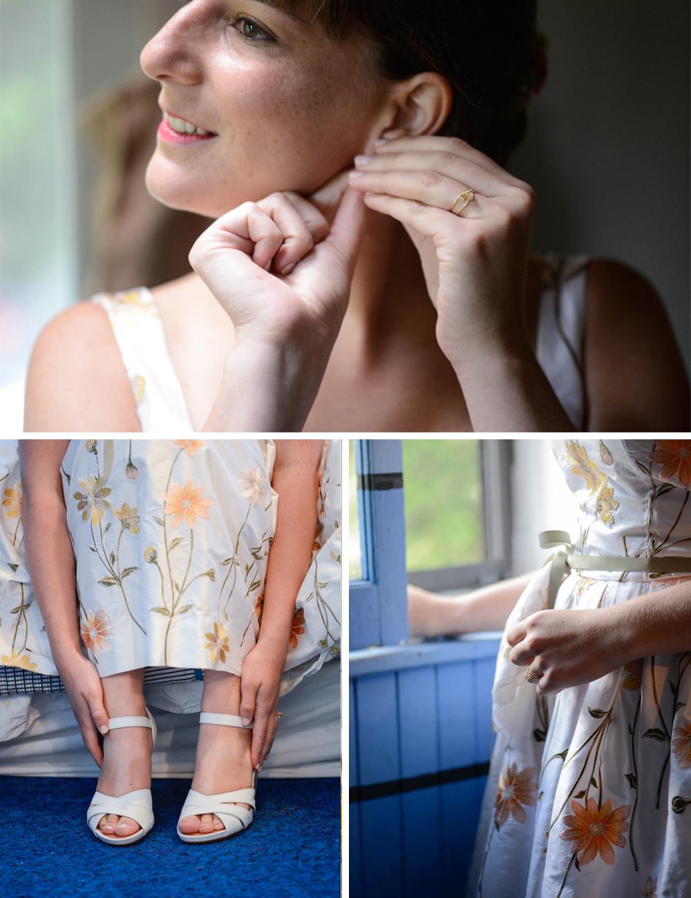 Handmade DIY wedding getting ready