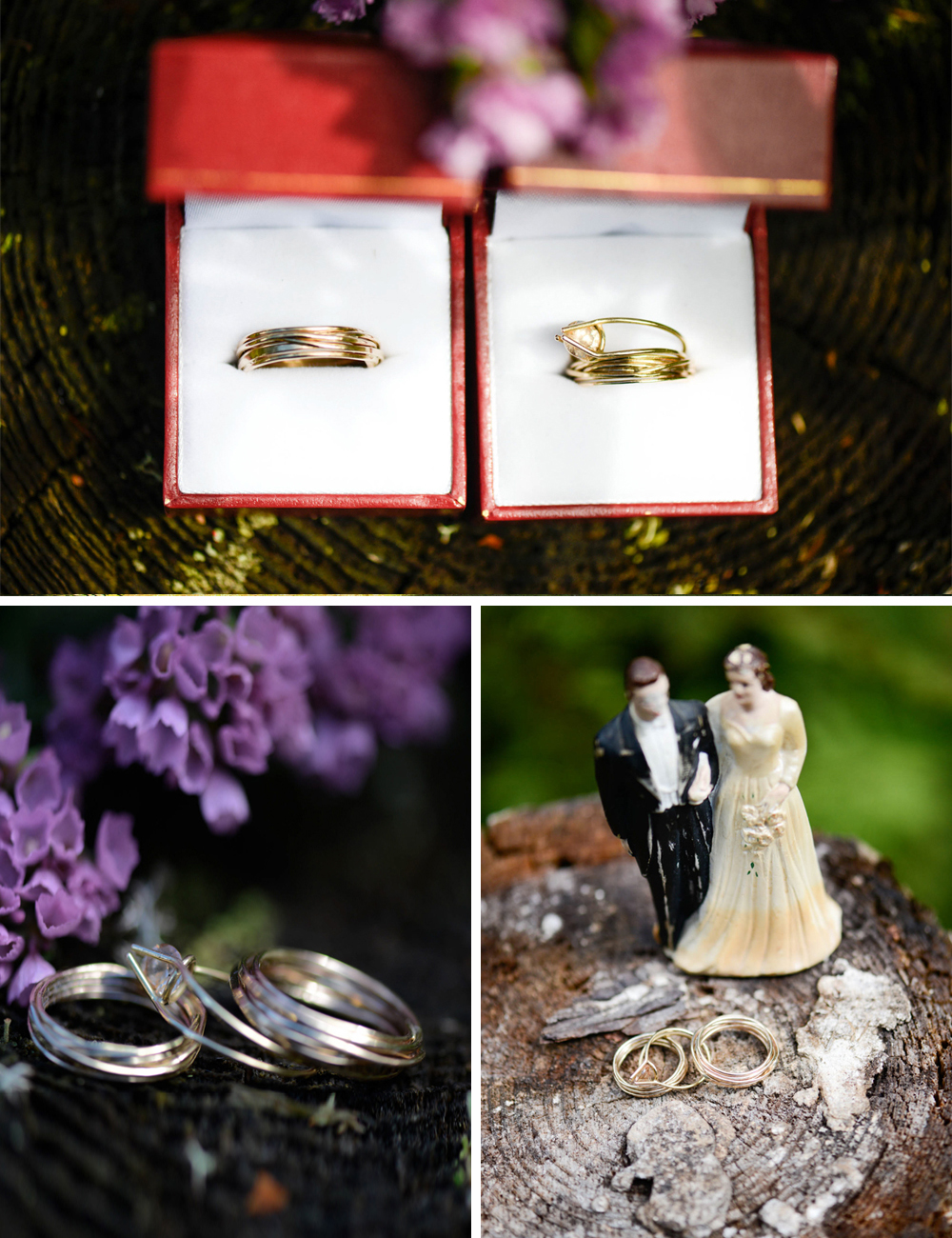 Handmade DIY wedding rings
