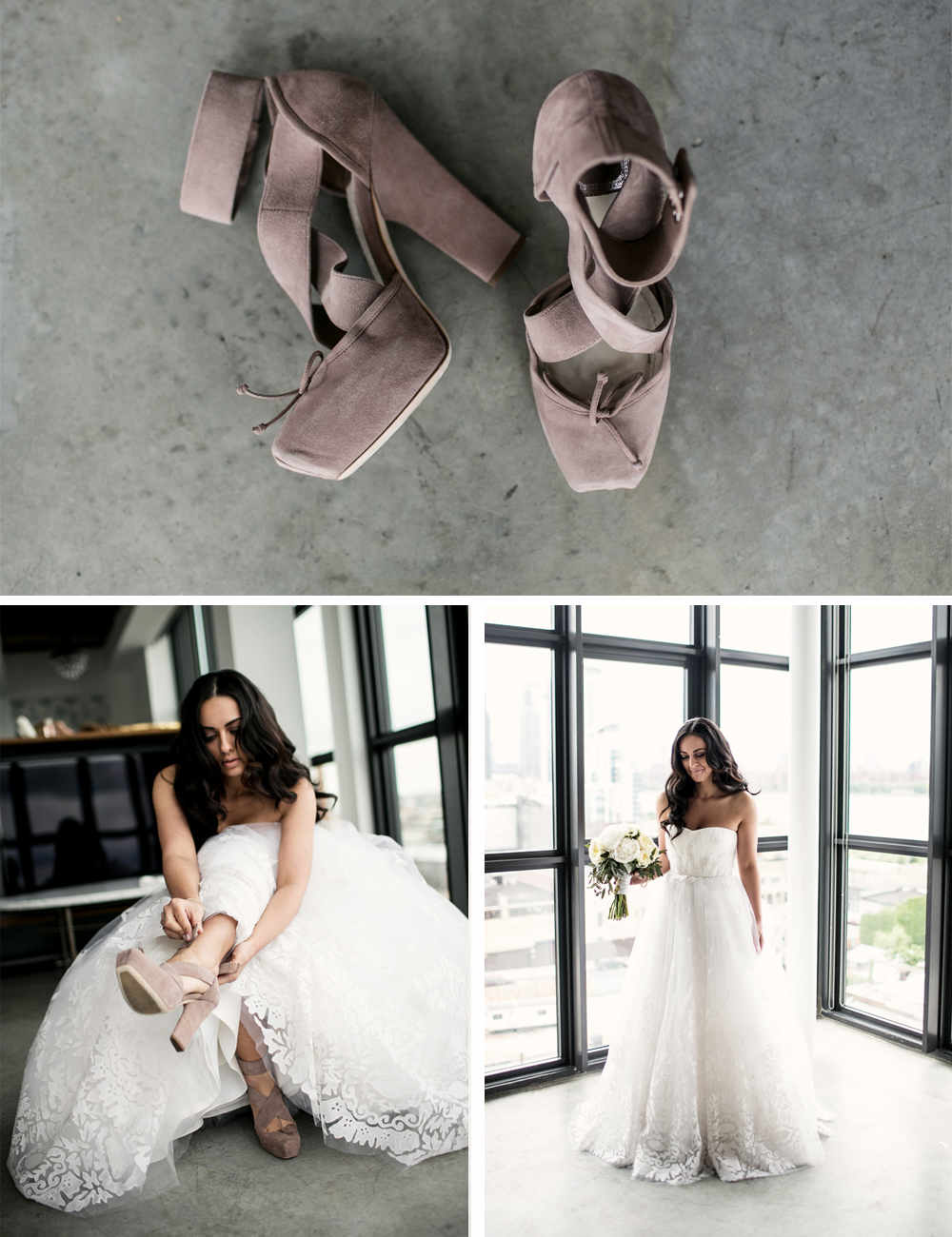 Jewish Greek Wedding at Brooklyn Botanical Garden New York shoes