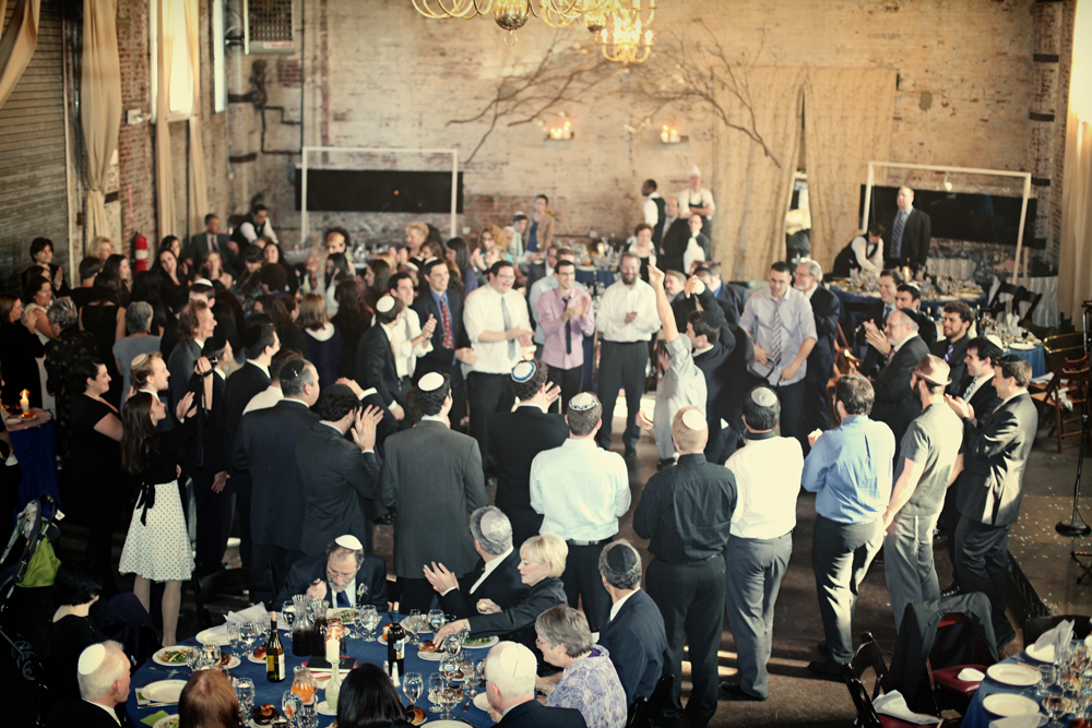 Jewish wedding at The Green Building, Brooklyn, New York 45