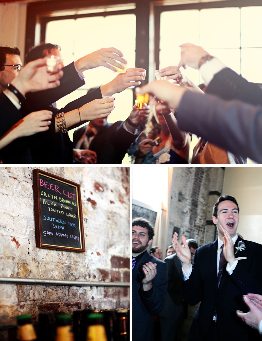 Jewish wedding drinking at The Green Building, Brooklyn, New York 1