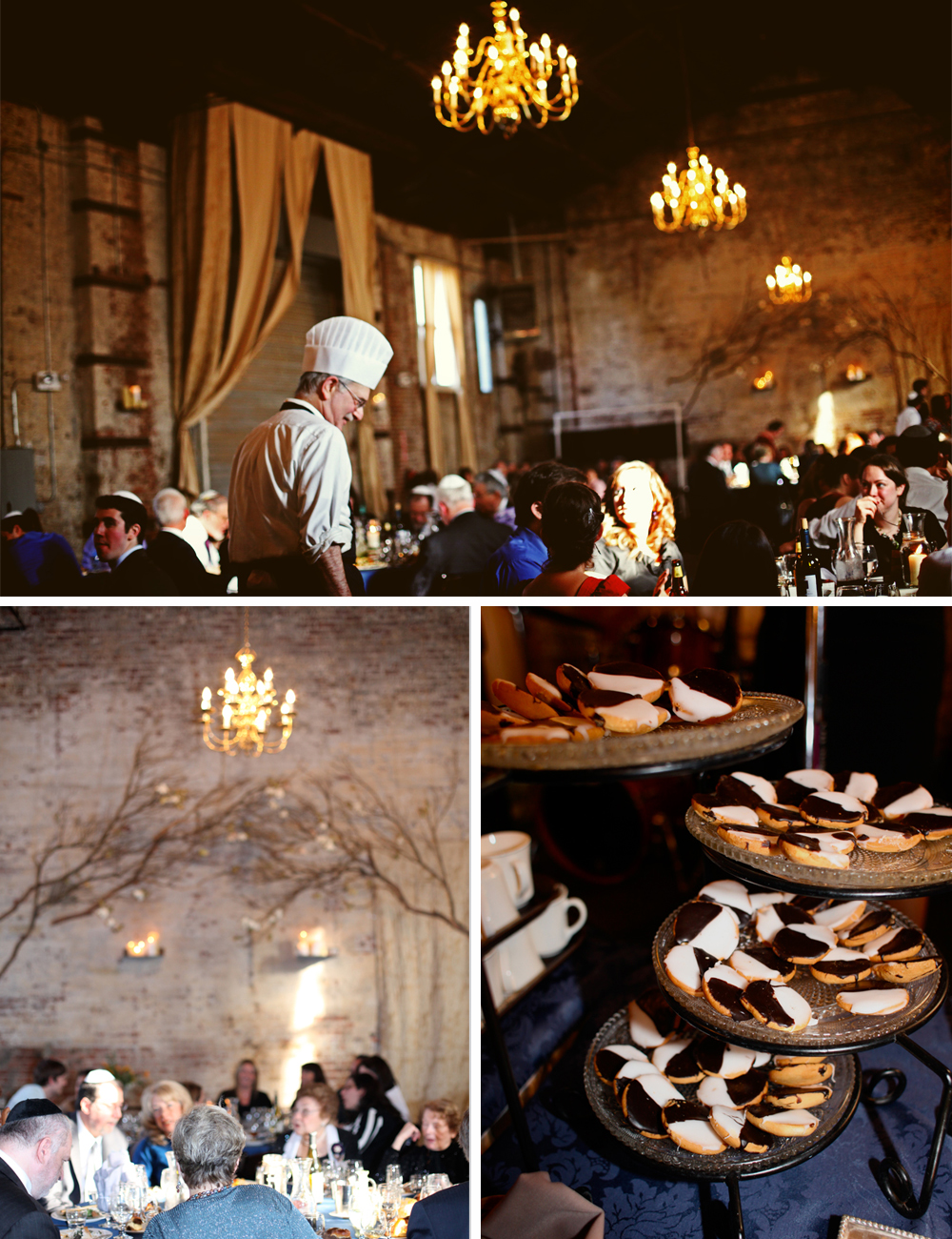 Jewish wedding food at The Green Building, Brooklyn, New York 1