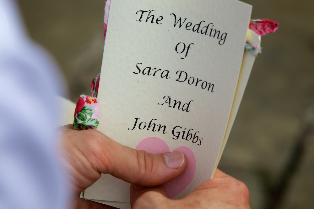 Sara John Vintage Wedding Program