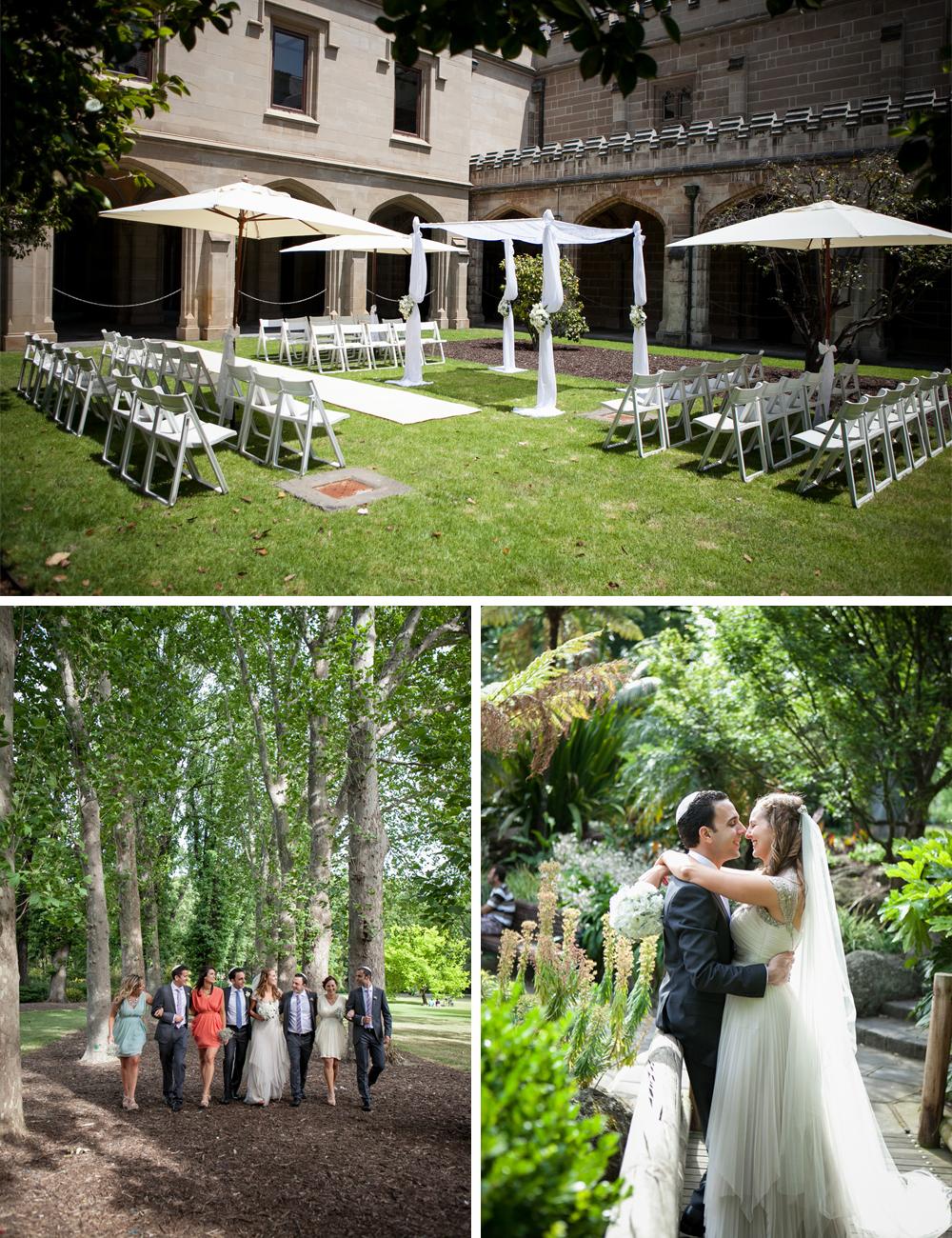 Jewish wedding Melbourne University and Luminare C