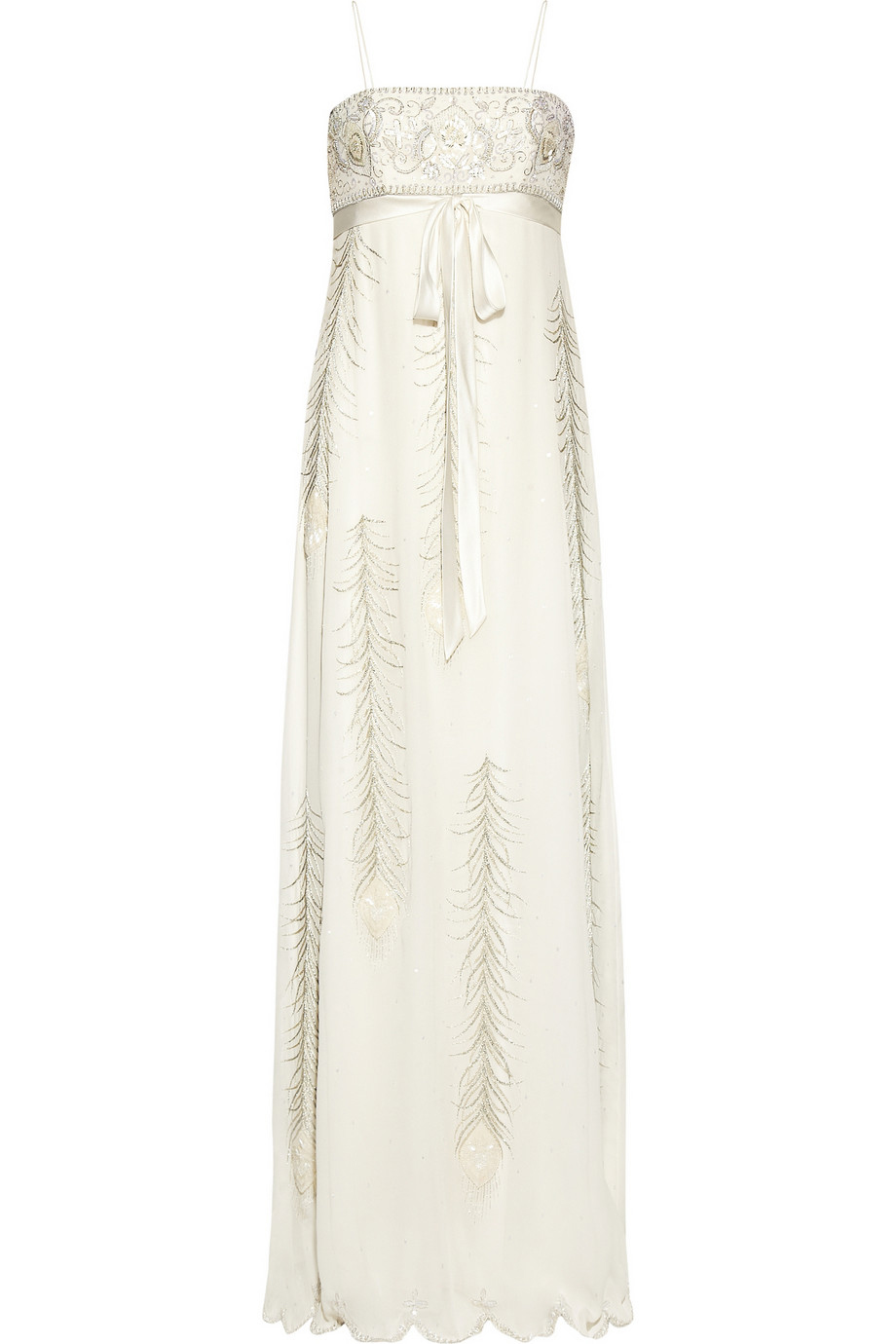 MATTHEW WILLIAMSON Embellished silk-chiffon gown- £3,500