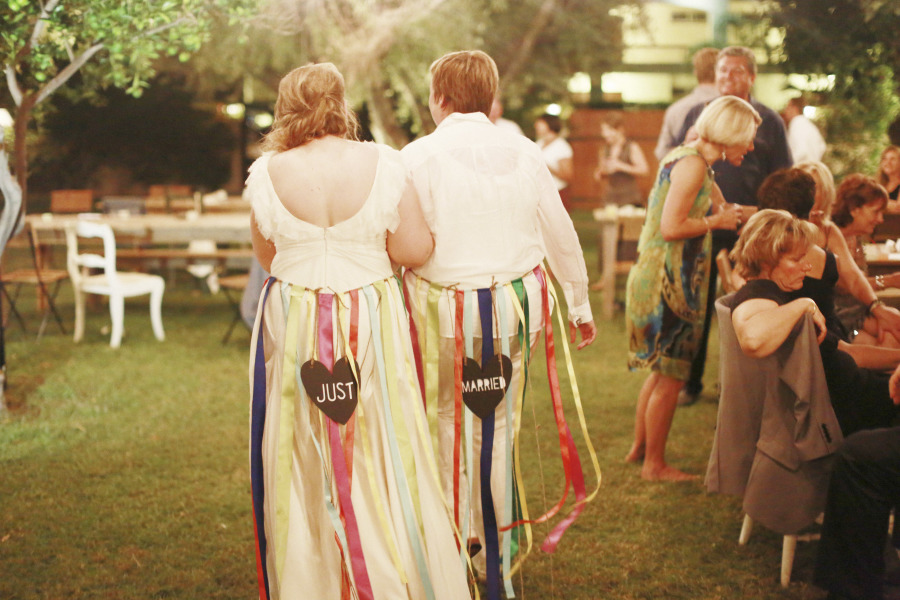 Music-themed Jewish wedding at Casa Cody Palm Springs California T