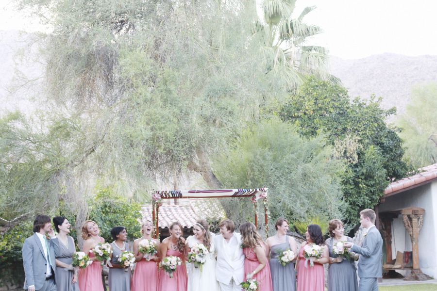 Music-themed Jewish wedding at Casa Cody Palm Springs California 58