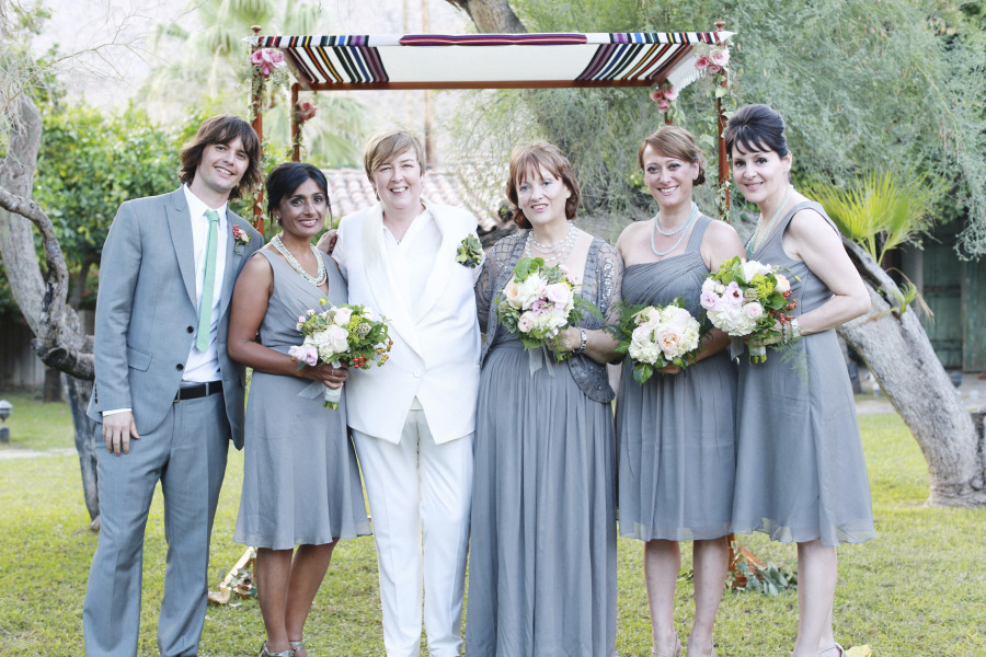 Music-themed Jewish wedding at Casa Cody Palm Springs California 57