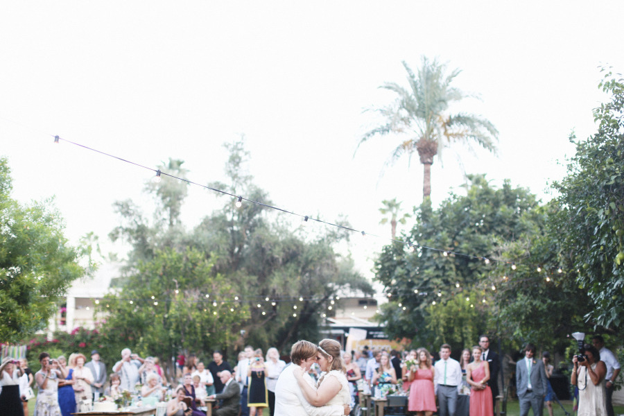 Music-themed Jewish wedding at Casa Cody Palm Springs California P