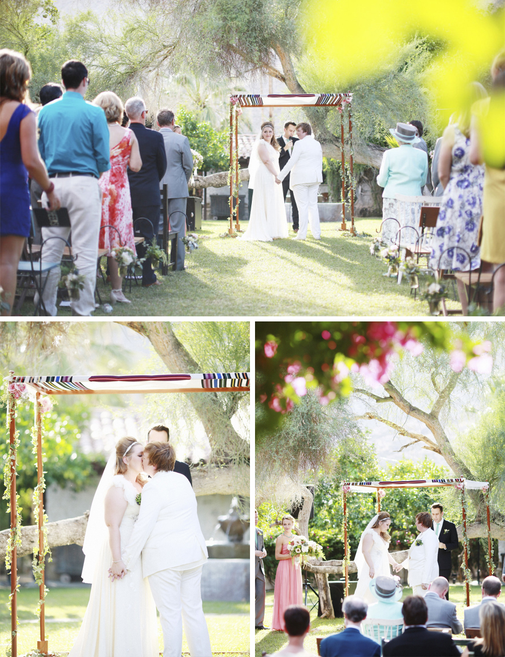 Music-themed Jewish wedding at Casa Cody Palm Springs California N