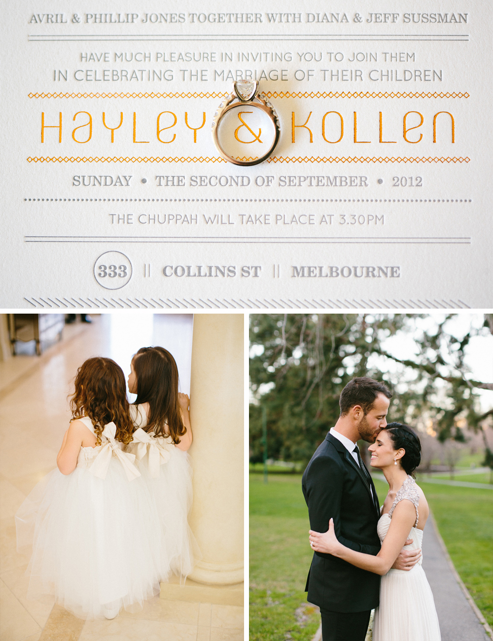 Vintage glam Jewish wedding at 333 ollins St and Myer Mural Hall Melbourne