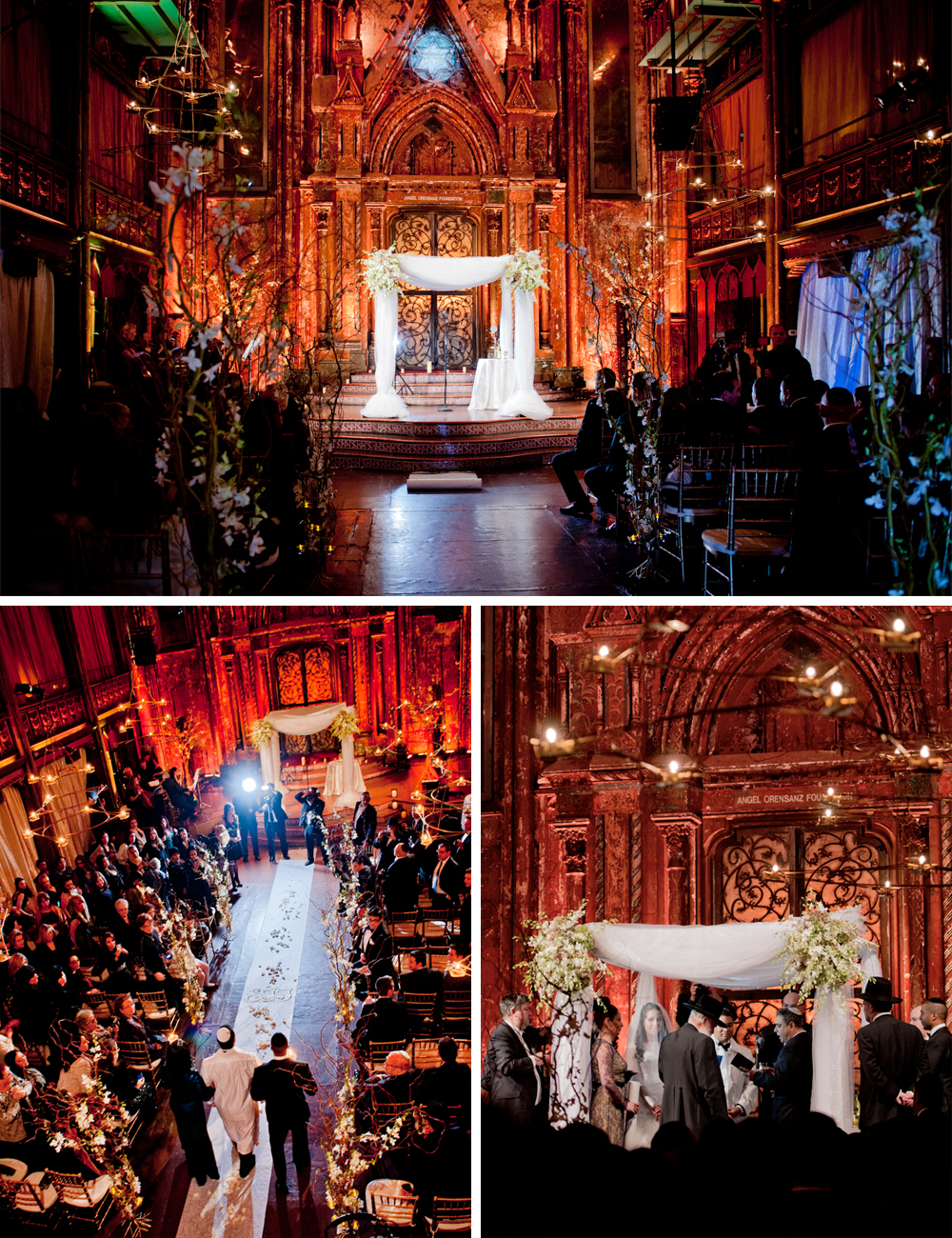 Jewish wedding at the Angel Orensanz Foundation New York City A