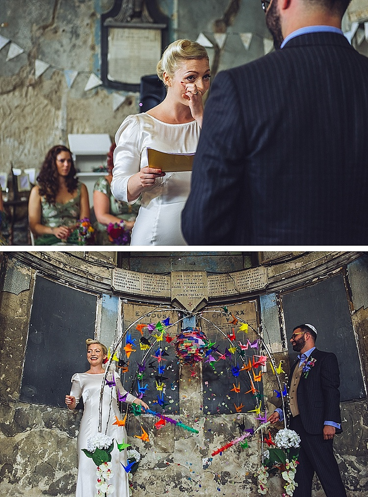 Colourful London wedding at Asylum Arts and The Big Red Pizza Bus_0113