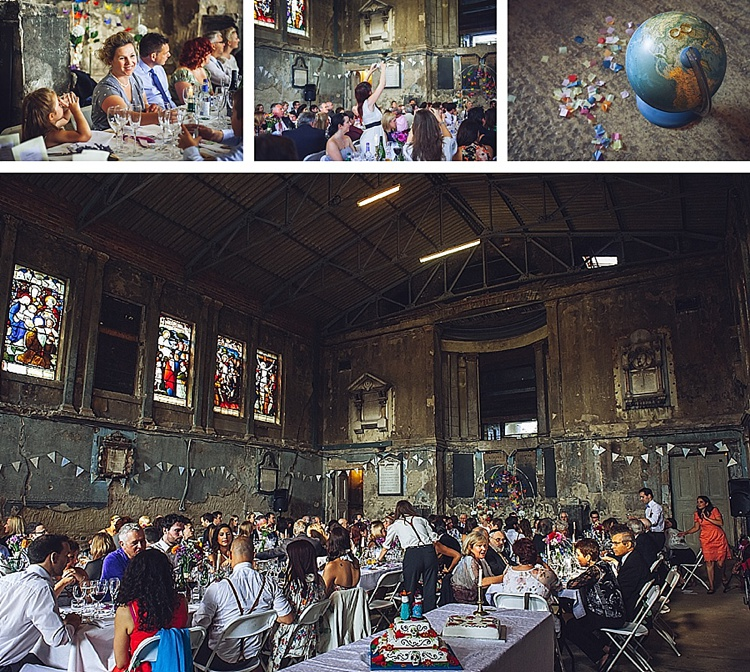 Colourful London wedding at Asylum Arts and The Big Red Pizza Bus_0124