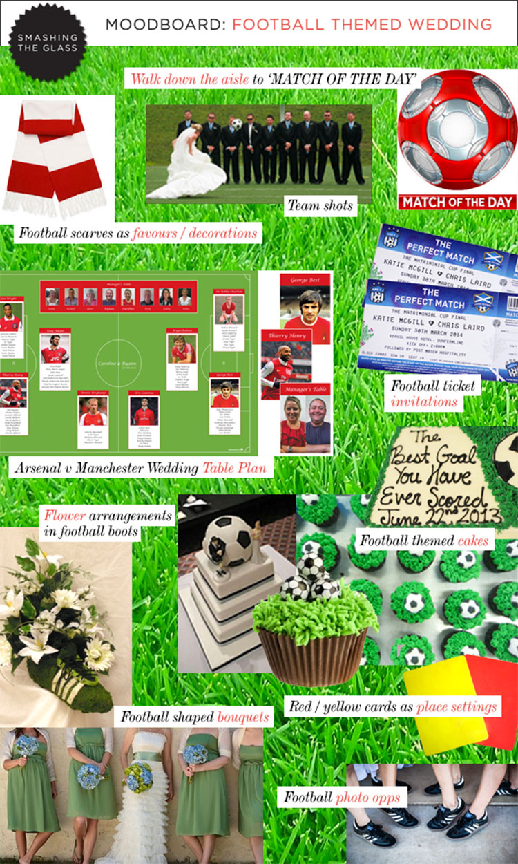 Soccer theme wedding archives smashing the glass jewish football themed wedding junglespirit