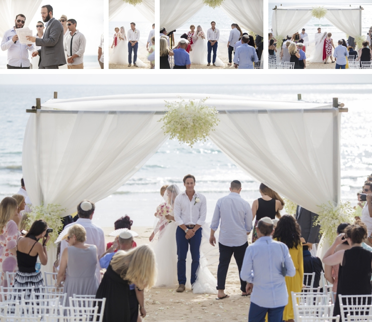 Jewish beach wedding + pool party at Grand Satis Villa, Phang Nga Bay, Thailand_0150