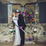 Missy & Yoni | Super cool and colourful South East London Jew-ish wedding at Asylum Arts and The Big Red Pizza Bus