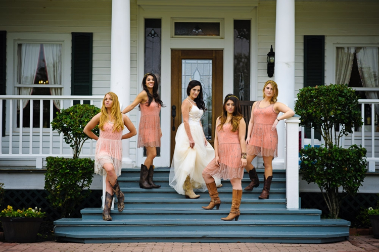 Outdoor Boho Jewish Wedding at House Plantation, Texas