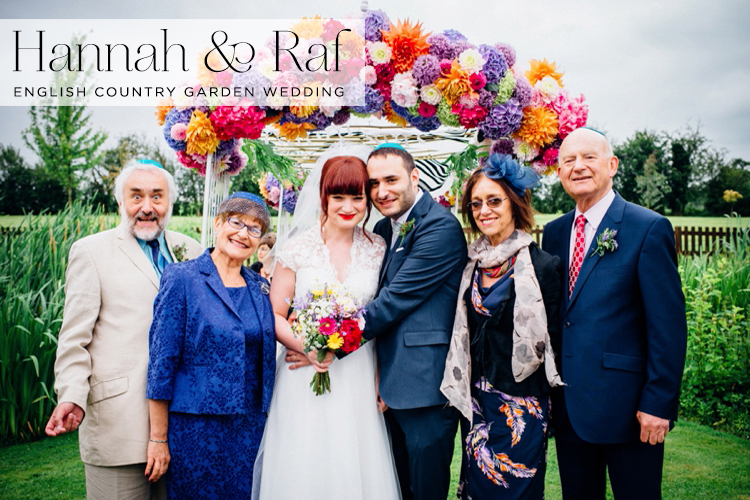 An english country garden jewish wedding