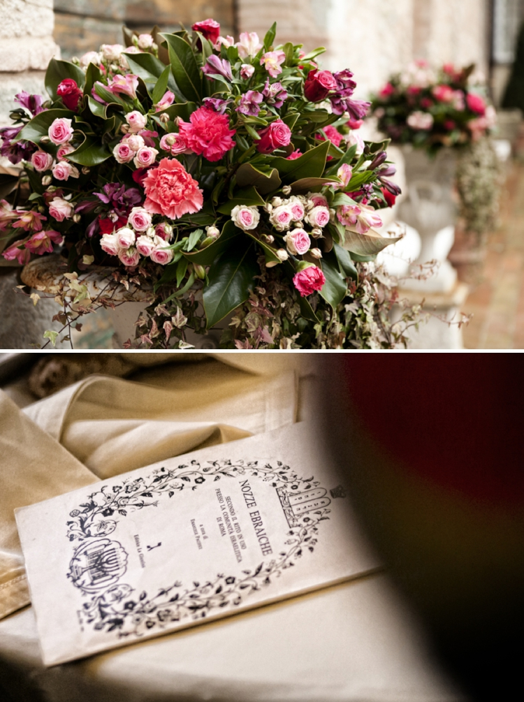 Pomegranate themed elegant bohemian Jewish wedding at Villa Scorz Pisa Italy_0022