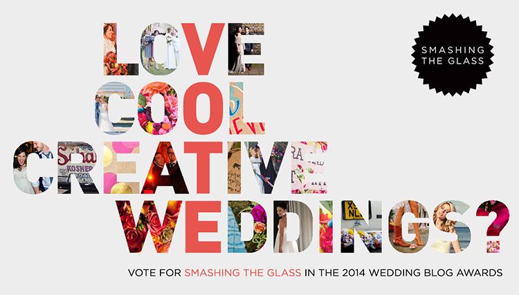 Vote Smashing The Glass Wedding Blog Awards
