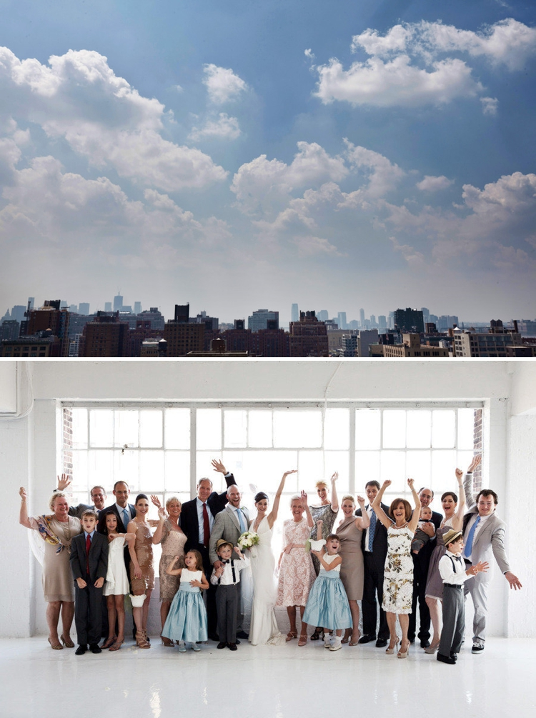Creative urban loft Jewish wedding with a rustic twist, at Studio 450, New York City