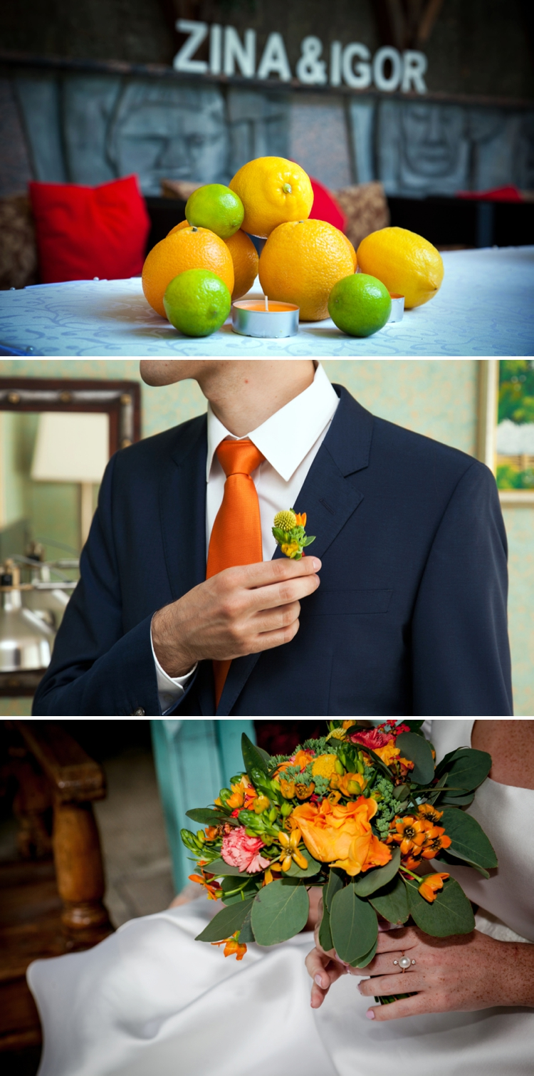 Intimate orchard-themed Jewish wedding at Casablanca hotel, Saint Petersburg, Russia
