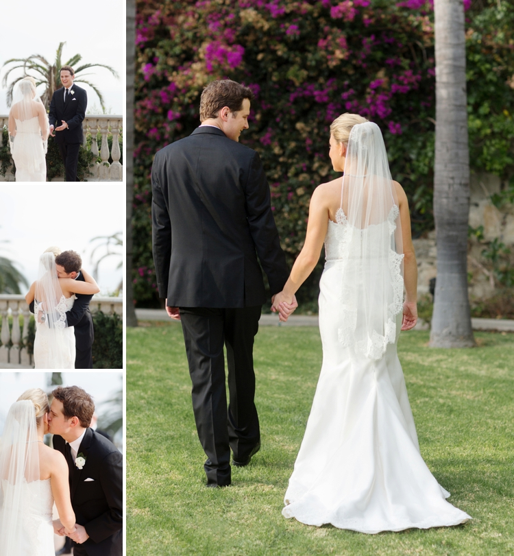 Outdoor Jewish Wedding at Bel Air Bay Club, California