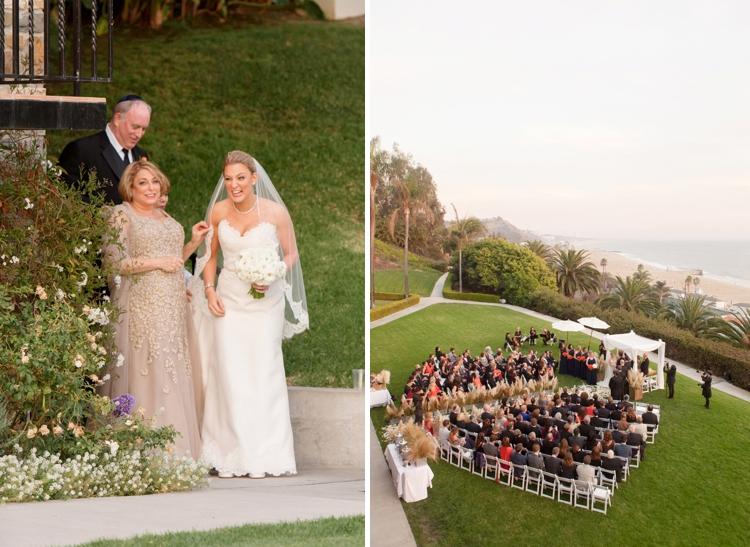 Outdoor Jewish Wedding at Bel Air Bay Club, California_0014
