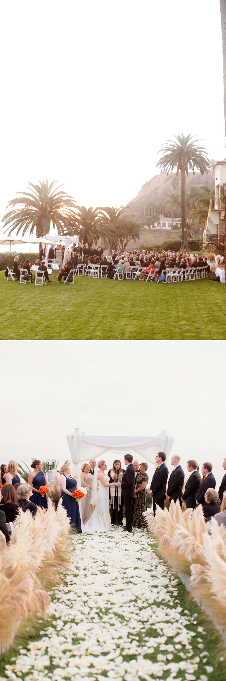 Outdoor Jewish Wedding at Bel Air Bay Club, California_0015