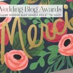The Wedding Blog Awards: A Thank You