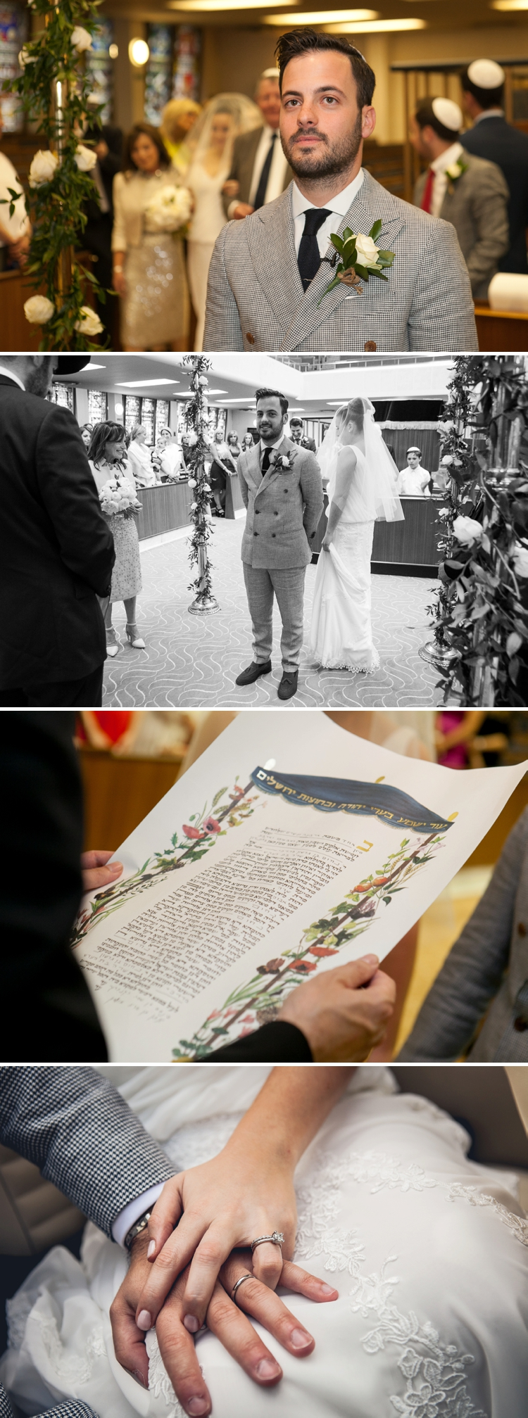 Intimate Jewish wedding at Forman's Smoked Salmon Fish Factory, Olympic Park, London, UK