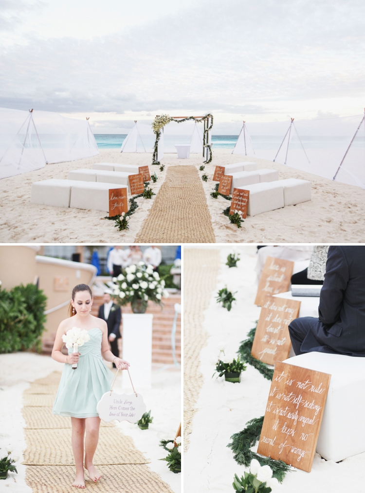 Travel themed beach-chic destination Jewish wedding at the Ritz-Carlton, Cancun, Mexico_0039