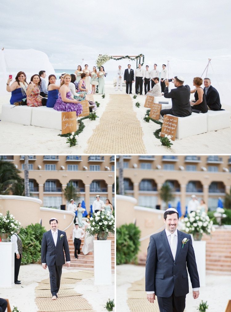 Travel themed beach-chic destination Jewish wedding at the Ritz-Carlton, Cancun, Mexico_0040