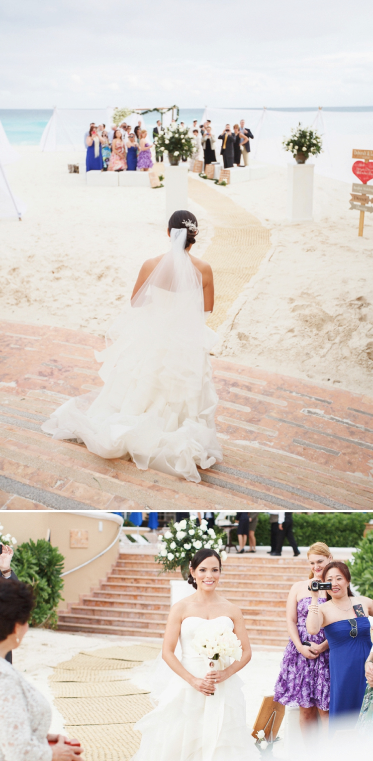 Travel themed beach-chic destination Jewish wedding at the Ritz-Carlton, Cancun, Mexico_0042
