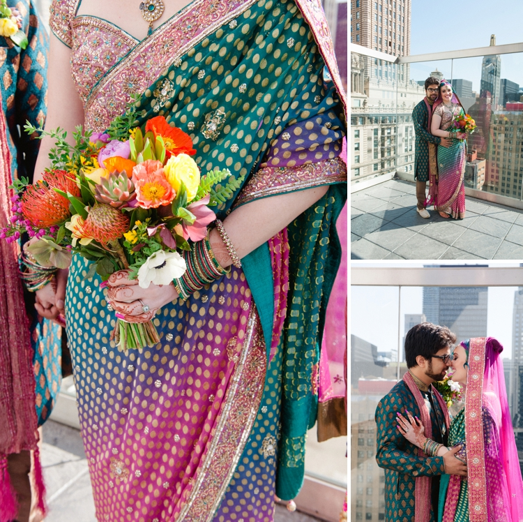 Colourful fusion Hindu Jewish 'HinJew' wedding at theWit, Chicago, Illinois, USA