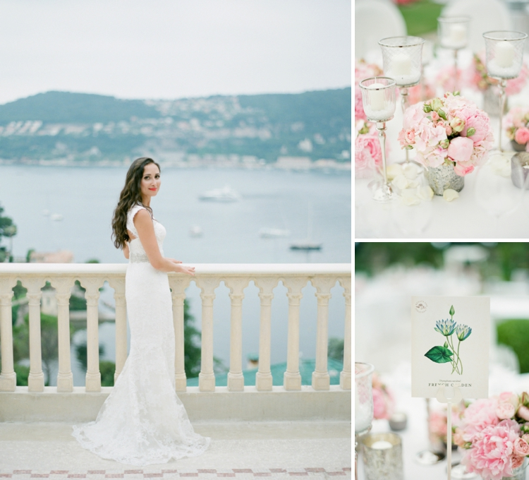 French Riviera Jewish wedding at Villa Ephrussi de Rothschild, Cap Ferrat, South of France