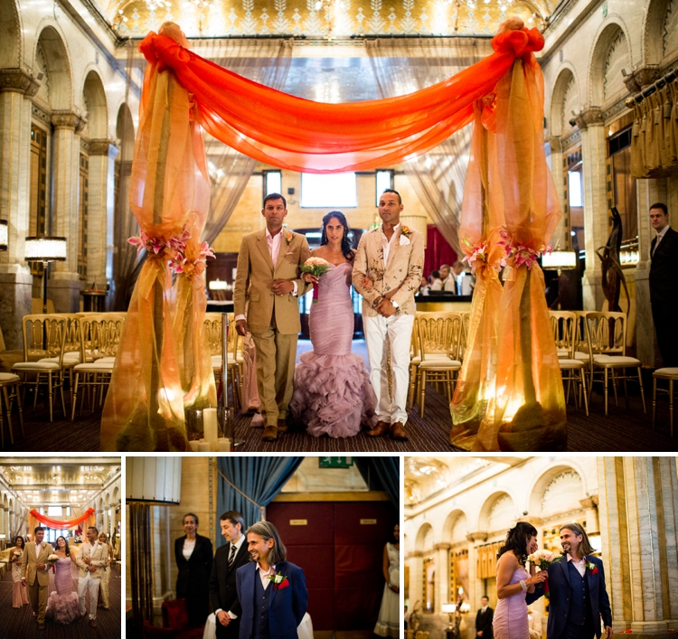 Jewish Hindu 'HinJew' wedding at The Criterion, London, UK